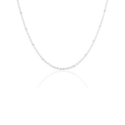 80 cm sterling silver indian chain
