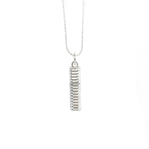 sterling silver Line pendant that can open