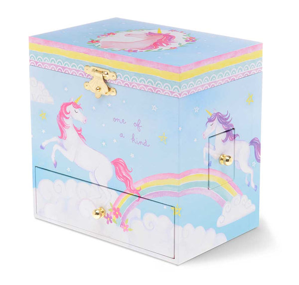 Unicorn Musical Jewelry Chest w/ 3 Drawers