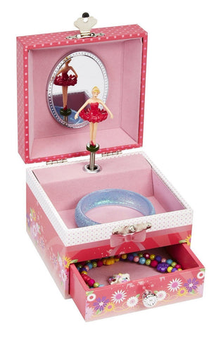 Red Ballerina Music Box