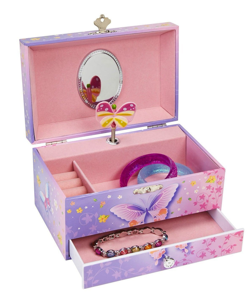 Crystal Butterfly Jewelry Box for Girls Room