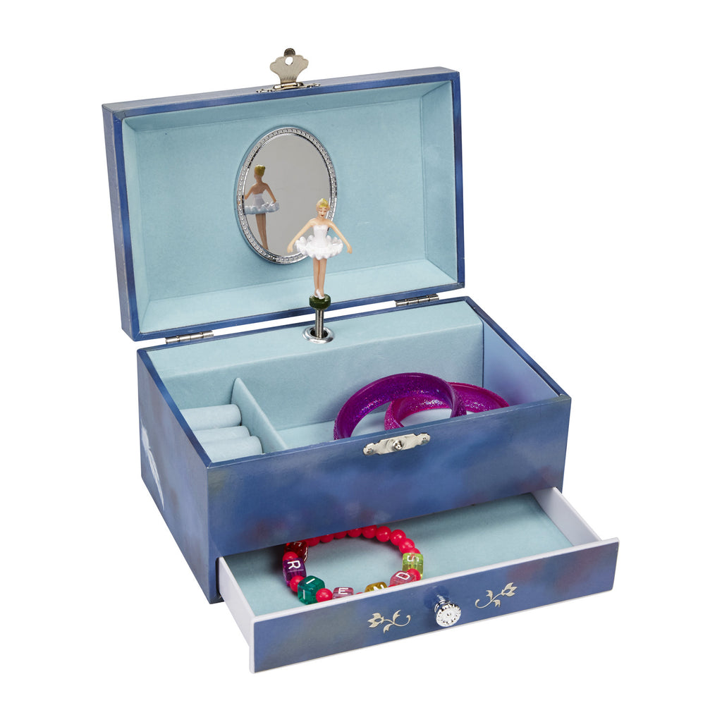 Violet Musical Jewelry Box w/ Drawer