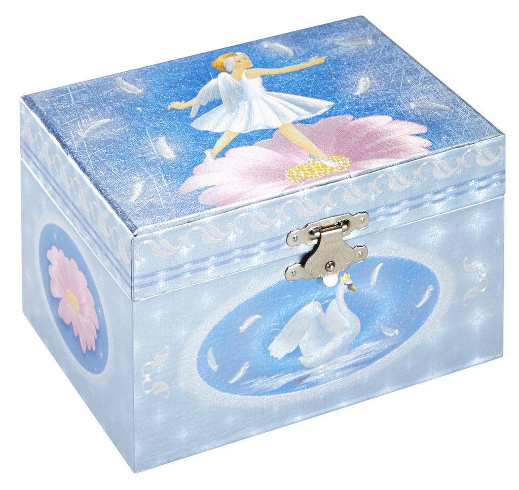 blue musical jewelry box