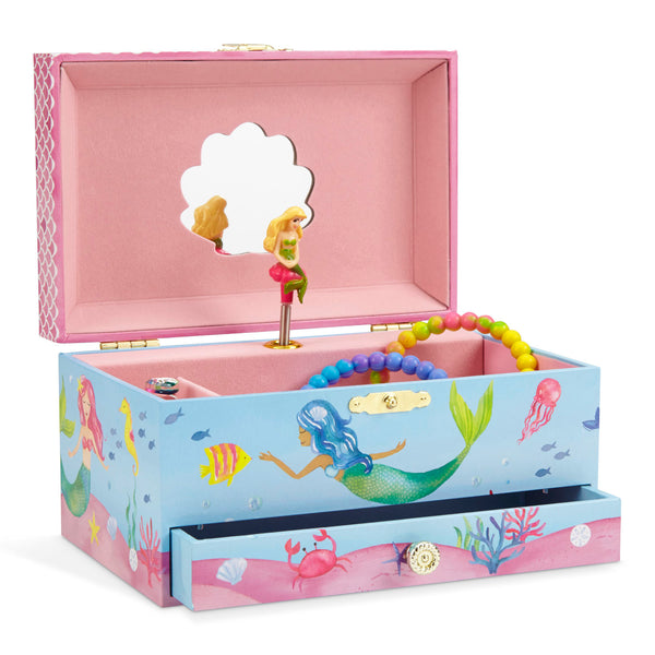 Lilly Musical Mermaid Jewelry Box w/ Drawer
