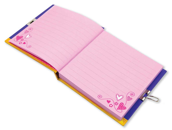 lockable diary with key lock llama