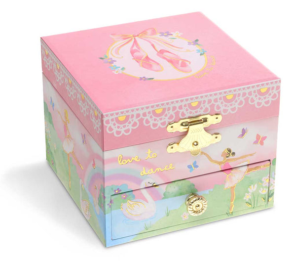 Dancing Ballerina Musical Jewelry Box w/ Drawer