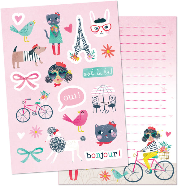 I Love Paris Stationery Writing Set