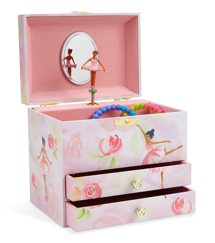 black ballerina musical jewelry box
