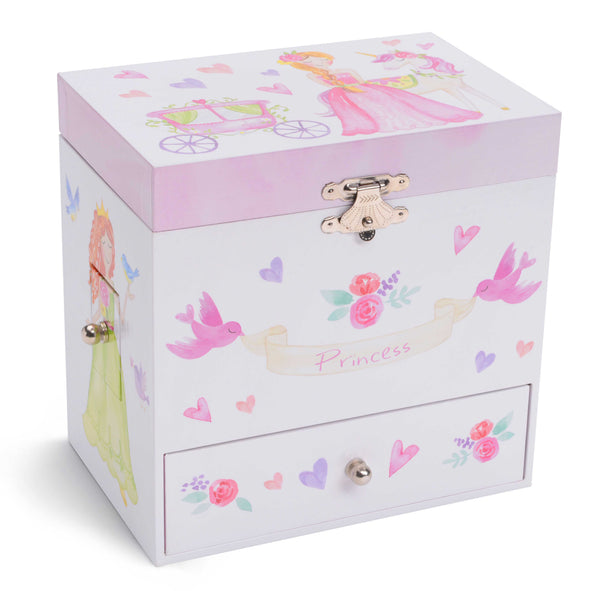 princess musical jewelry box