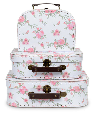 Set of 3 Nesting Storage Suitcases - Floral