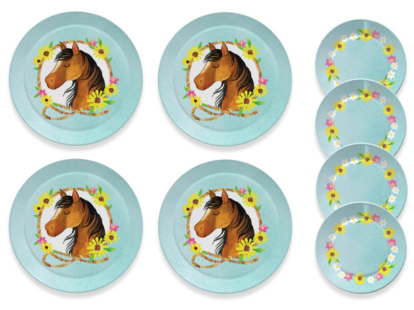 15pc. Horse Tin Tea Set
