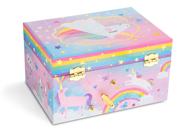 Cotton Candy Unicorn Musical Jewelry Box