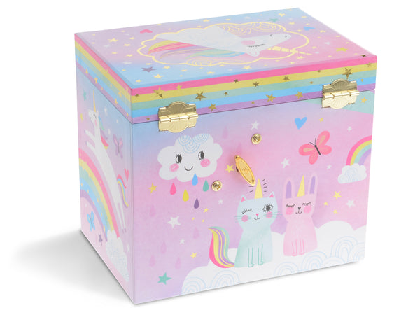 Cotton Candy Unicorn Musical Jewelry Box w/ Drawers