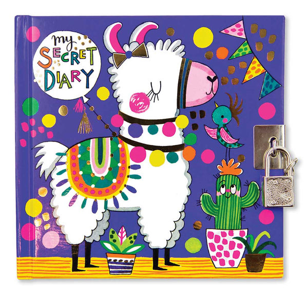 llama locking diary for girls