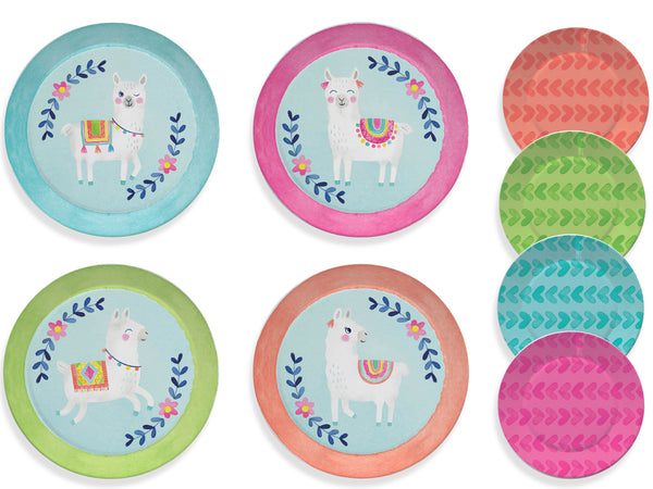 15pc. Llama Kids Tea Party Set