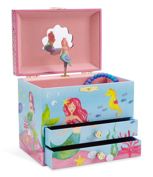 pink mermaid musical jewellery box