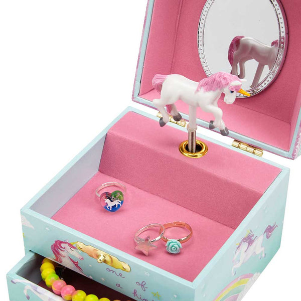 party unicorn musical jewelry box