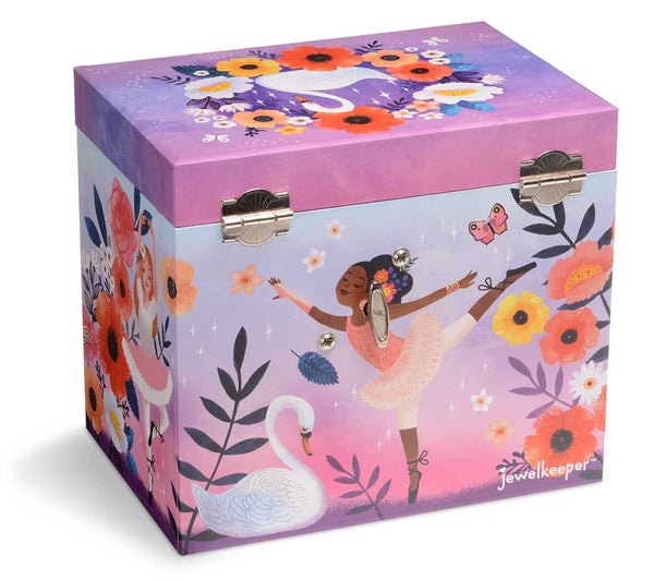purple swan lake musical jewelry box