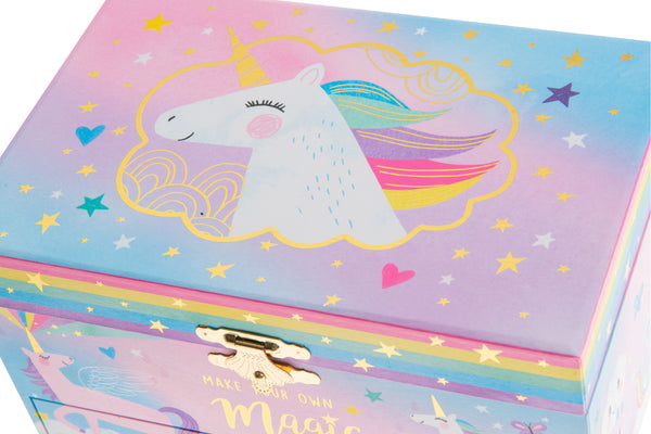 Cotton Candy Unicorn Musical Jewelry Box w/ Drawer