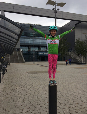 Thea at the velodrome