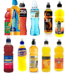 Photo of different sports drinks
