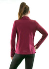 Girls core elite 1/4 zip long sleeve maroon back