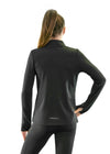 Girls core elite 1/4 zip long sleeve black back