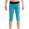 Girls Sports Leggings 3/4 Length-Capris Blue