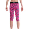 Girls Sports Leggings 3/4 Length-Capris Pink