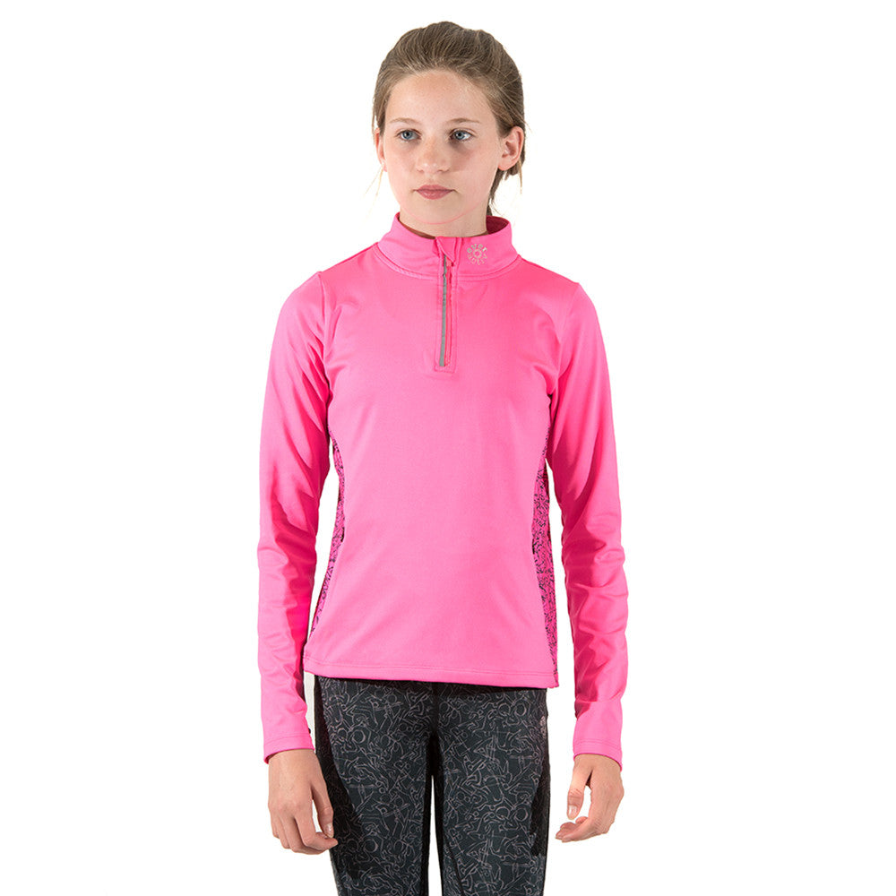Girls Sports Top Long-Sleeve Pink