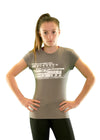 Girls core elite bamboo t-shirt grey