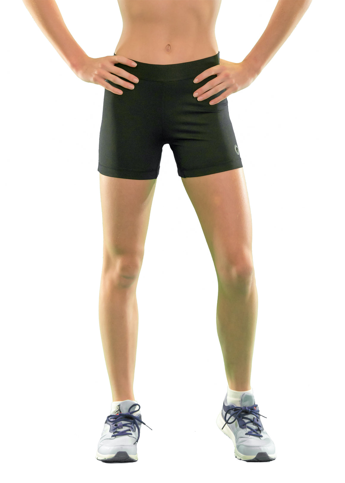 everactiv core elite black sport tight shorts for girls