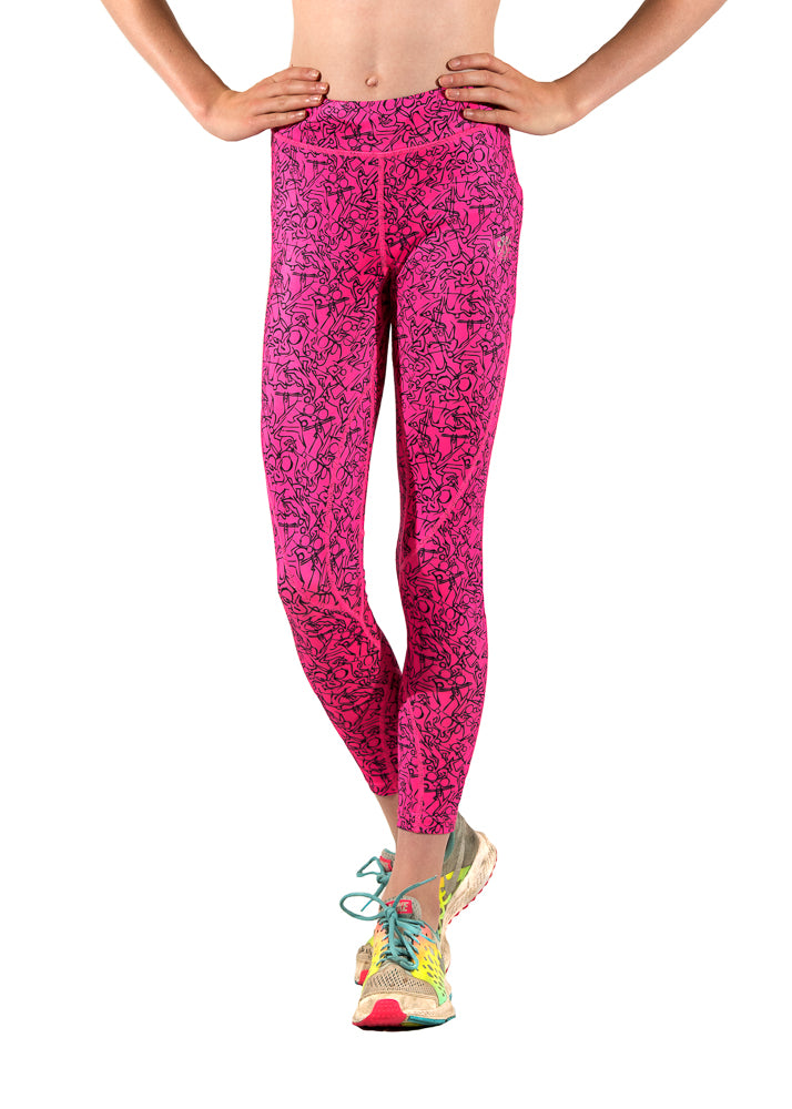 Pink sports leggings from everactiv