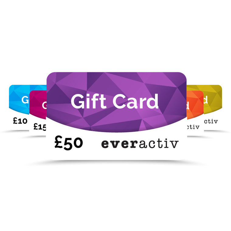 Gift cards for everactiv sportswear for girls
