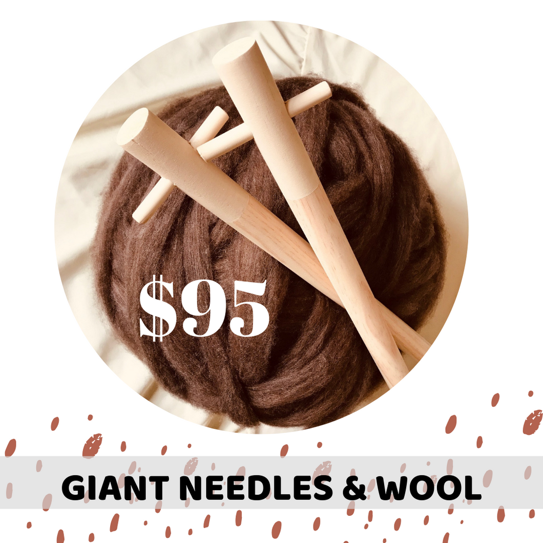 Giant Needles & Giant Wool