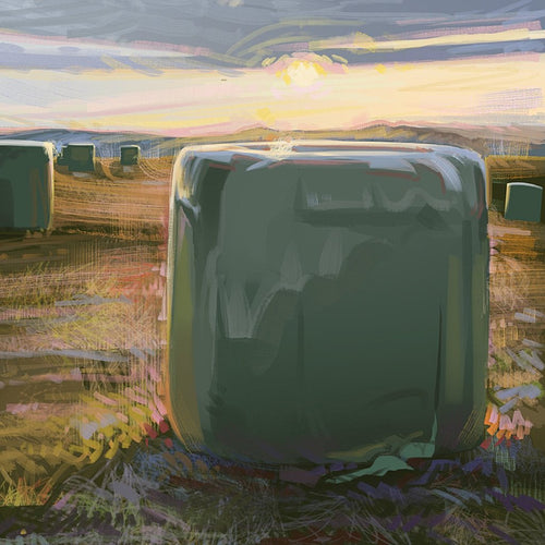 Hay Bales by Andy Shaw
