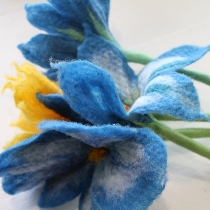 Felted Merino and Silk Flower
