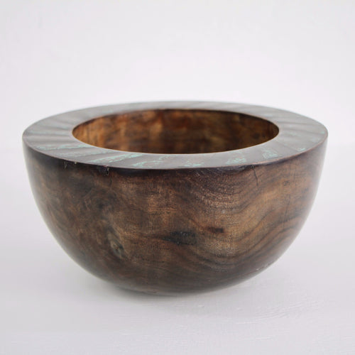 Eucalyptus Bowl with Copper and Ebony Inlay