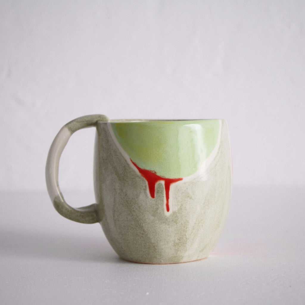 Abstract Cow Mug