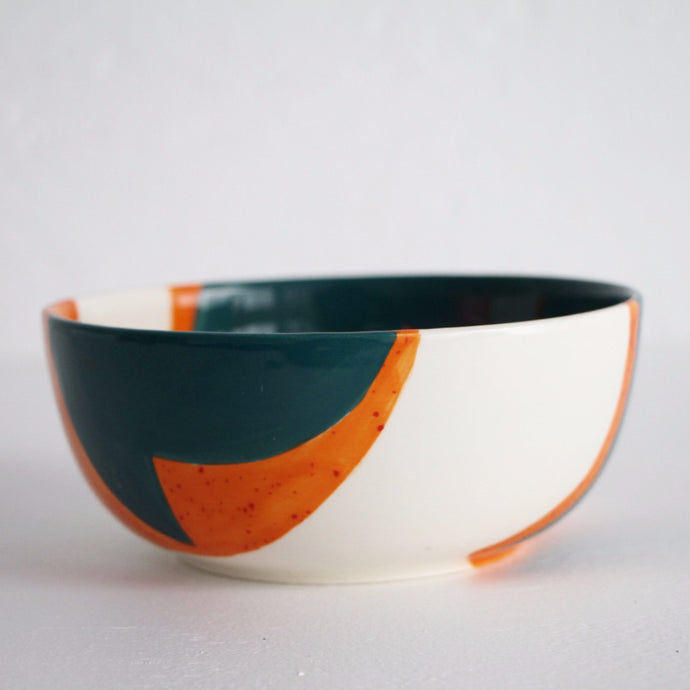 Orange Blue Flora Bowl