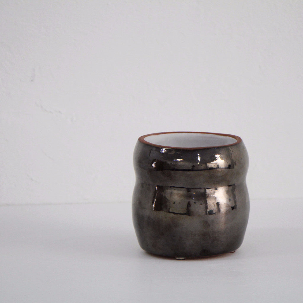 Small Metallic Planter