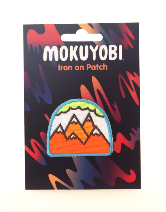 Neon Mountains Embroidered Patch
