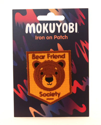 Bear Friend Society Embroidered Patch