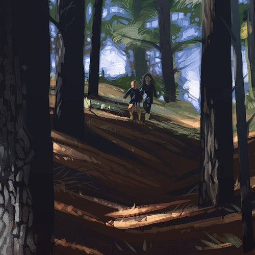 Pinecone Hunting by Andy Shaw