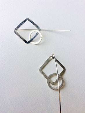 Square + Circle Link Earrings