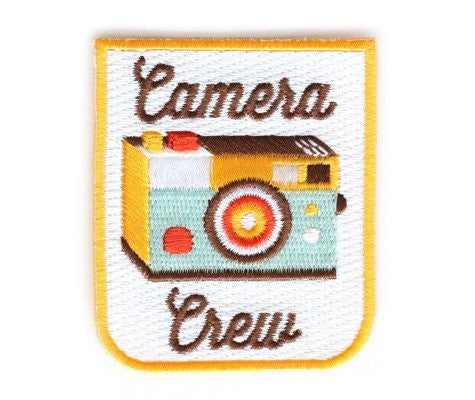 Camera Crew Embroidered Patch