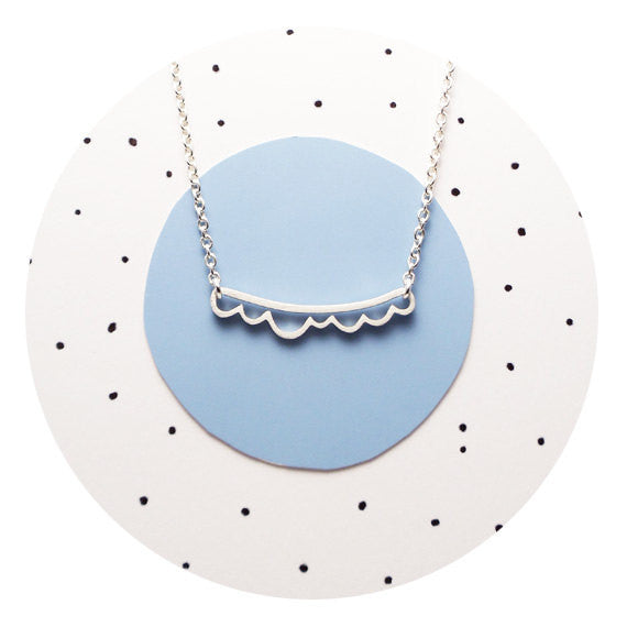 Sterling Cloud Necklace