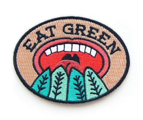 Eat Green Embroidered Patch
