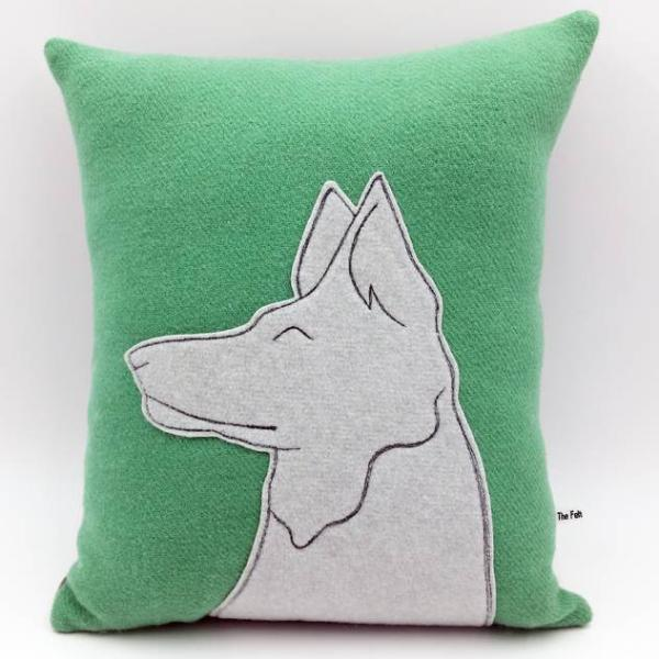 Vintage Wool Animal Cushion