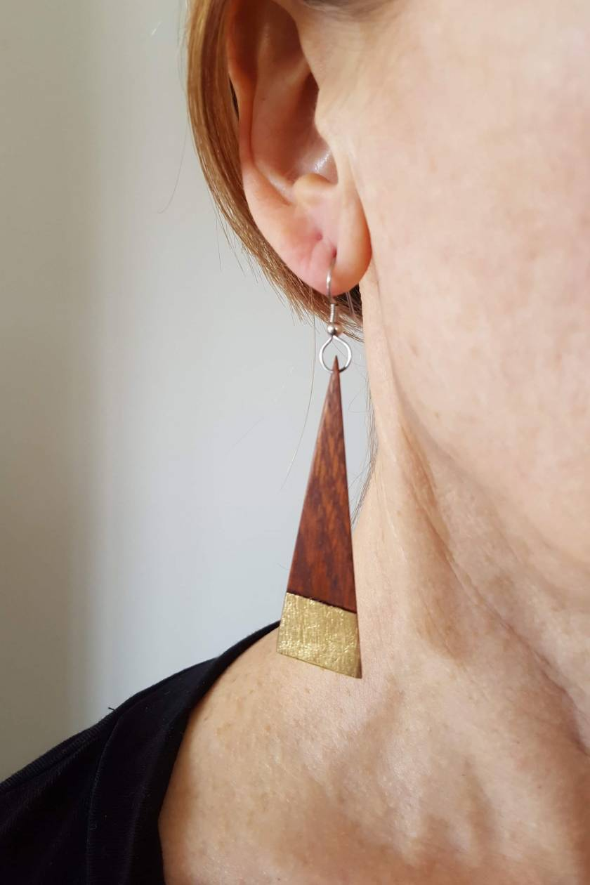 Recycled Mahogany Earrings